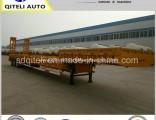 3 Axle 80 Ton Gooseneck 60ton Lowboy/Lowbed/ Lowboy Low Bed Trailer Price Truck Semi Trailers