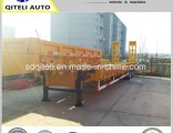 3axles Heavy Truck Trailer/ Excavator Transport Lowbed Semi Trailer