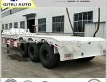 Tri-Axle 3 Axle Gooseneck 60ton Low Bed Semi Trailer