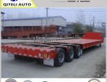 3 Axles 60t 80ton 100 Ton Lowbed Semi Trailer Truck