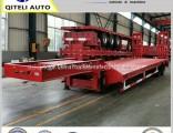 Tri-Axle Excavator Transport Gooseneck Lowbed Trailer Low Bed Semi Trailer