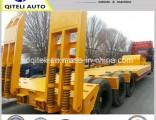 Tri-Axle Excavator Transport Gooseneck Lowboy Low Bed Lowbed Semi Trailer