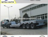 2/3/4 Axle 60t Lowbed Truck Semi Trailer for Excavator Heavy Duty Machinery Transport