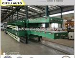 80tons Excavator Transport Hydraulic Ramp Low Bed Semi Trailer