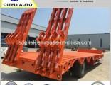3 Axles Heavy Machine Tranpsort Gooseneck Lowloader Lowbed Semi Truck Trailer