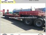 Tri-Axle Detachable Lowbed Trailer 60 Ton Low Bed Semi Trailer