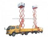 Aerial Work Platform Truck Mounted Vertical Man Lifting (10m-12m Scissor Lift Platform Bucket Man Li