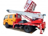 Truck Mounted Telescopic Ladder Truck for House Building Goods Lift and Download (House Furniture Mo