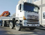 700 Hino 8X4 Flatbed Truck with Foldable Arm Knuckle-Boom Palfinger Pk32080 12tone Loading Crane