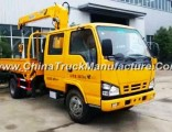600p Double Cabine Isuzu Mounted Crane Truck with Sq3.2zk1 3.2t Load Capacity Sale