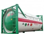 20FT ISO LPG Tank Container for Liquid Propane, Cooking Gas, Dem, Isobutane 24kl  -40kl Custerm