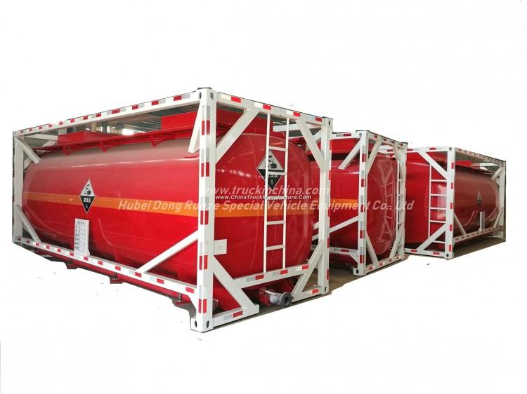 Custermizing 20FT Portable ISO Tank Container For Acid Hydrochloric Acid ,Sodium Hypochlorite,Hydrof