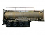 Lined Tank Container for Road Transport 28kl Hydrochloric Acid HCl (max 35%) , Naoh, Naclo