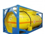 20FT Pressure Tank Container for Liquid Ammonia Un1005 Liquid Nh3 (IsoTank Ammonia, anhydrous) Road