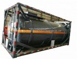 Container 20FT ISO Round Tank Steel Lined Polyethylene Plastic LDPE 16mm for 18kl-20kl Hydrochloric