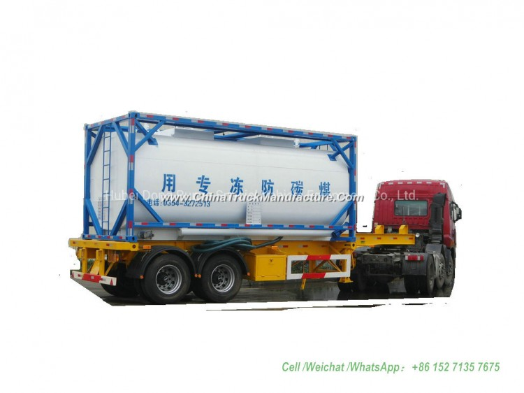 Automotive Antifreeze ISO Tank Container 20FT (Steel Lined Plastic -LLDPE For Storage Ethylene Glyco