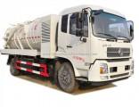 High Pressure Jetting Combined Sewer VAC Tanker Truck 6cbm Vacuum Sewage Tank, 4cbm Jetting Water Ta