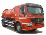 Sinotruk HOWO 6 Wheels VAC Tanker Sewage Sludge Truck with 8000L 12000L Septic Tank Rhd or LHD 4X4.4