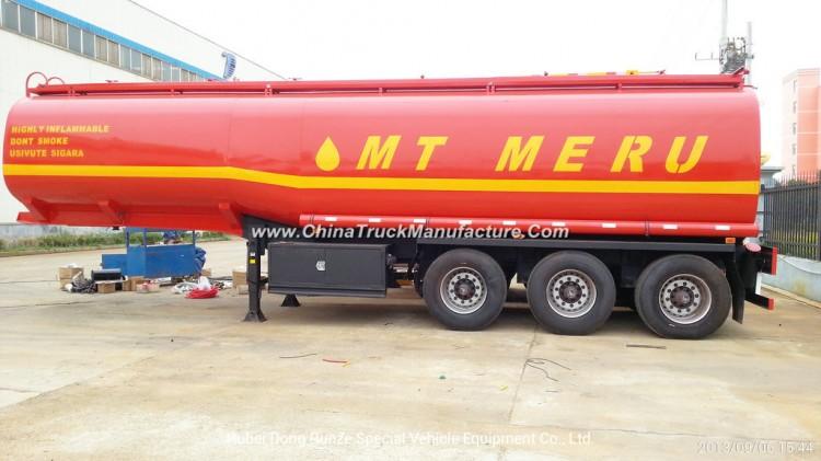 Steel Fuel Tanker Semi-Trailer 3 Axles Oil Tank Capacity 42000L to 47000L (Diesel) with BPW Axles Ai