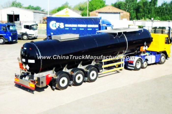 Hot Diesel Burner Heaed Bitumen Tanker Trailer Withtri-Axle