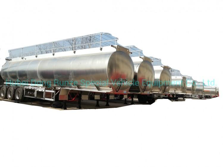Aluminum Alloy Tanker Trailer 40kl for Diesel, Oil, Gasoline, Kerosene Road Transport with 3 BPW Axl