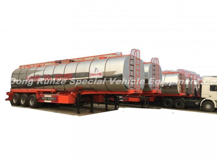 3 Axles Insulated Hot Bitumen Tanker Trailer 45cbm (Liquid Asphalt Tank Semitrailer) with Two Burner