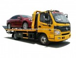Foton Recovery Roll Back Flatbed Wrecker or Wheel Lift Wrecker with Broken Car Carrier for Towing Tr