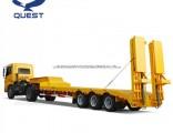 Construction Machinery Transportation 3axles 60ton Gooseneck Low Bed Semi Trailer