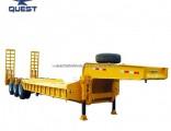 Tri-Axle 70ton Low Flatbed Semi Trailer Low Bed Truck Trailer