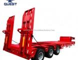 6axle Low Bed Gooseneck Trailer 80-120 Tons Lowbed Truck Trailer