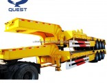 Double Tire 60tons Low Bed Trailer Lowboy Truck Semi Trailer
