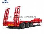 3/4axles 45-60 Tons Low-Bed Heavy Equipment Lowbed Truck Semi Trailer