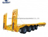 4axle 100tons Low Bed Low Loader Truck Trailer Lowboy Trailer