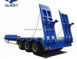 3 Axles Crane Excavator Tractor Transport Low Bed Truck Trailer