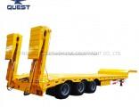 Three-Axle Hydraulic Ladder 50-80ton Lowboy Low Deck Semi Trailer