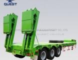 Drilling Rig Machine Transportation 3axles Low Bed Semi Truck Trailer