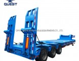 100 Ton 6axles Wide Extendable Low Bed Semi Truck Trailer