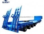 4axles 100 Tons Gooseneck Truck Trailer Low Bed Trailer Dimensions