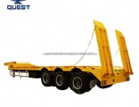 3axles 60 80ton Low Bed Flatbed Low Loader Truck Trailer
