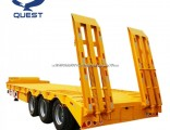 3 Axle Bulldozer Transport Low Bed Truck Trailer Low Loader