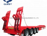 Quest 80tons Heavy Duty Excavator Transport Four Axles Lowbed Trailer
