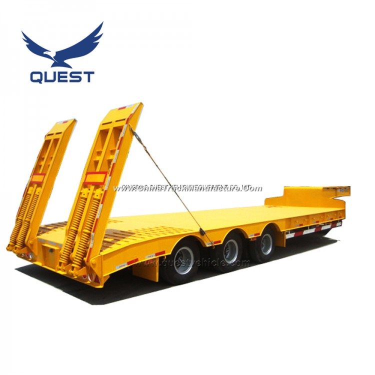 3axle Low Loader Trailers Low Bed Trailer 50 Ton for Sale