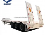 Philippines 45-60 Tons Cargo Lowbed Heavy Equipment Low-Bed Truck Semi Trailer