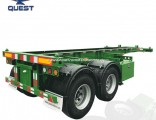 20FT China Cheap Dual Combo Chassis Container Truck Semi Trailer