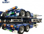 Double Axles Skeleton Chassis 40FT Container Transport Semi Trailer
