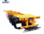 Used Three Axles Container Frame Skeletal Chassis Trailer for Sale