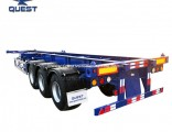 3 Axles 40FT Skeletal Container Trailers with Gooseneck Container Chassis