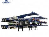 Gooseneck 40feet 2 Axles Skeletal Container Transport Chassis Semi-Trailer