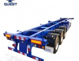 Skeleton 3axles 20FT 40FT Container Chassis Container Semi Truck Trailer