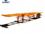 Indonesia 40ton 2axles 40FT Chassis Truck Container Skeleton Semi Trailer